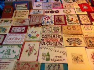 geborduurde kaarten voor Afke